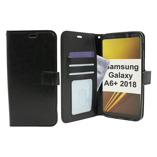 Crazy Horse Wallet Samsung Galaxy A6+ 2018 (A605FN/DS) Brun