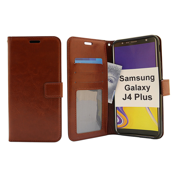 Crazy Horse Wallet Samsung Galaxy J4 Plus (J415FN/DS) Svart
