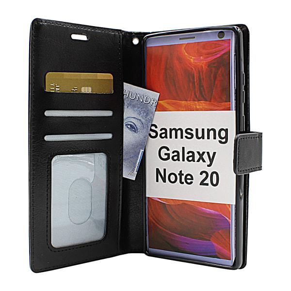 Crazy Horse Wallet Samsung Galaxy Note 20 5G (N981B/DS) (Svart) Grön