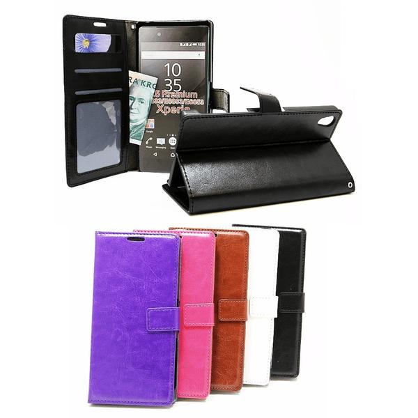 Crazy Horse Wallet Sony Xperia Z5 Premium (E6853) Brun