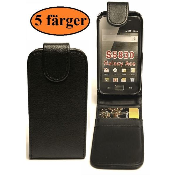 Flipfodral Samsung Galaxy Ace (S5830) Vit