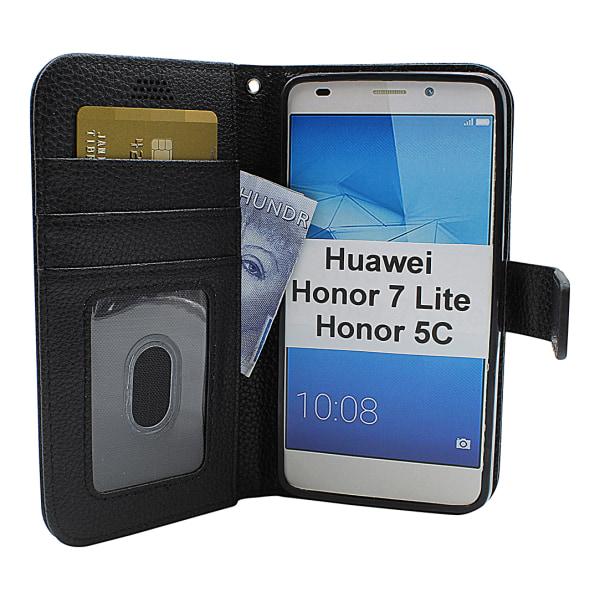 New Standcase Wallet Huawei Honor 7 Lite (NEM-L21) Blå