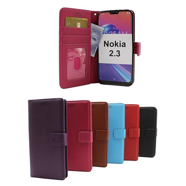 New Standcase Wallet Nokia 2.3 (Svart) Ljusblå