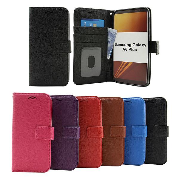 New Standcase Wallet Samsung Galaxy A6+ 2018 (A605FN/DS) Svart