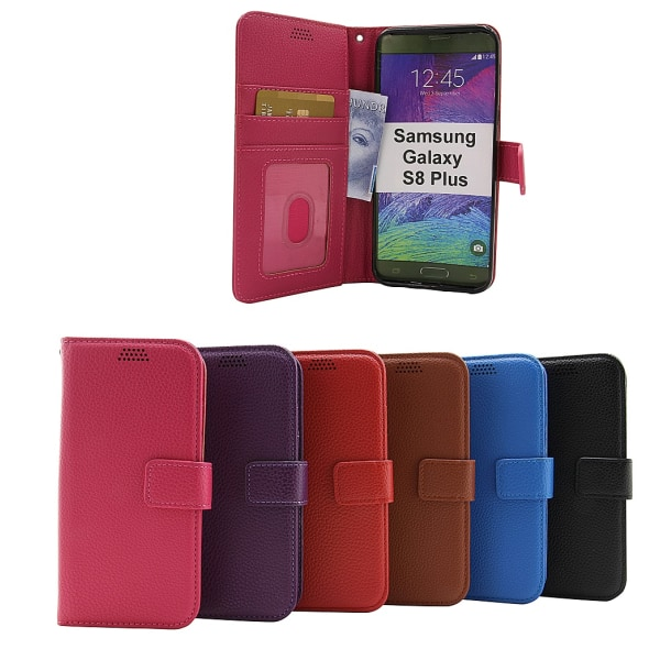 New Standcase Wallet Samsung Galaxy S8 Plus (G955F) (Lila) Svart