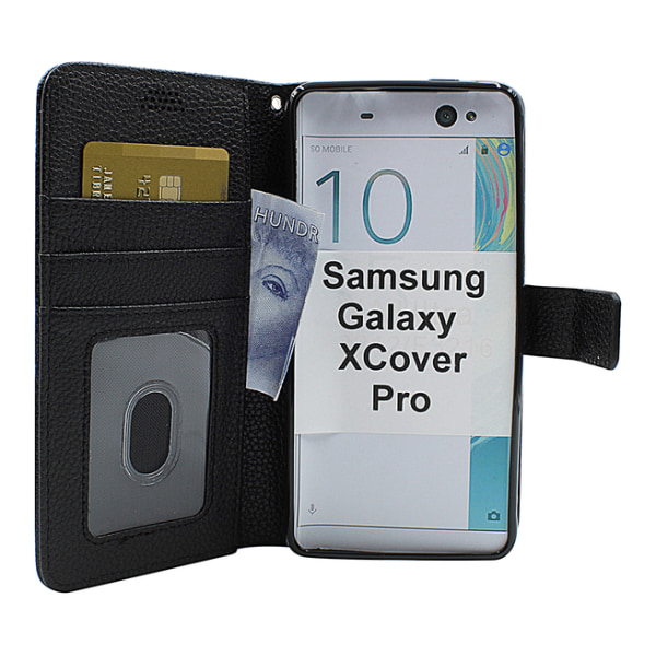 New Standcase Wallet Samsung Galaxy XCover Pro (G715F/DS) Svart