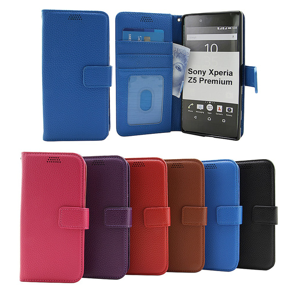 New Standcase Wallet Sony Xperia Z5 Premium (E6853) Svart