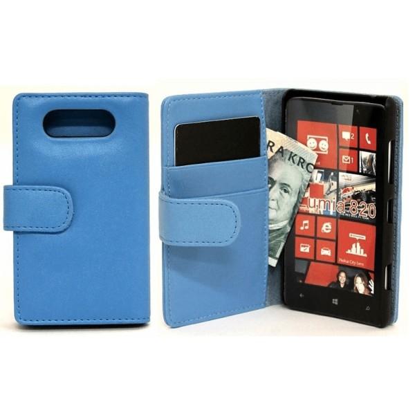 Plånboksfodral Nokia Lumia 820 Ljusblå