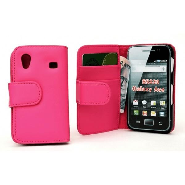 Plånboksfodral Samsung Galaxy Ace Ljusrosa