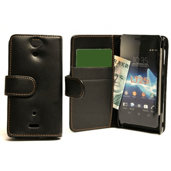 Plånboksfodral Sony Xperia V (LT25i) Vit