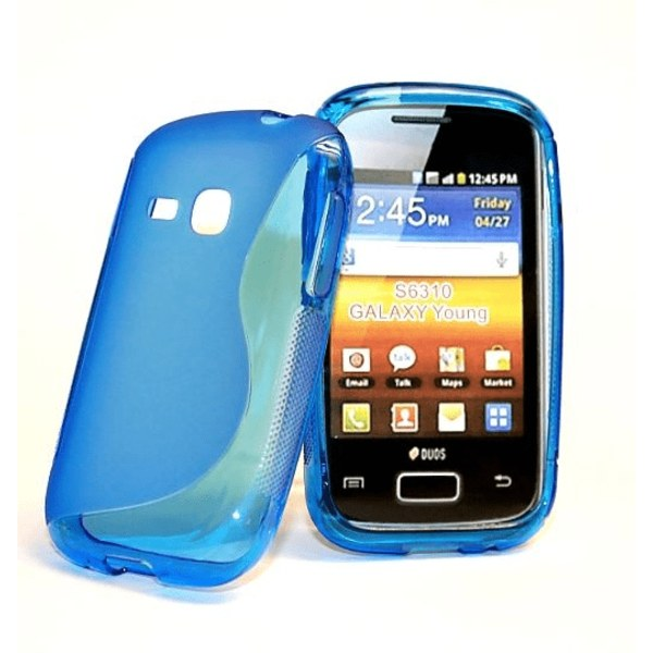 S-line skal Samsung Galaxy Young (s6310) Vit