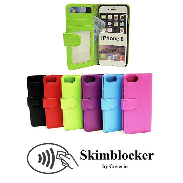 Skimblocker Plånboksfodral iPhone 8 Ljusrosa