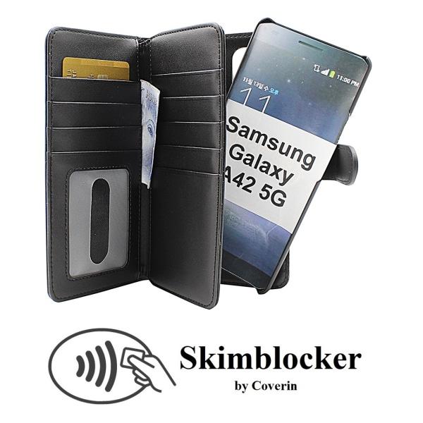 Skimblocker XL Magnet Fodral Samsung Galaxy A42 5G Svart
