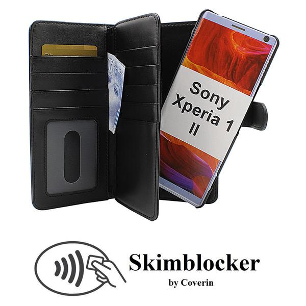 Skimblocker XL Magnet Wallet Sony Xperia 1 II (XQ-AT51) Svart