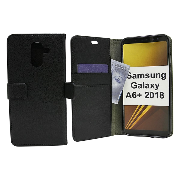 Standcase Wallet Samsung Galaxy A6+ 2018 (A605FN/DS) Vit