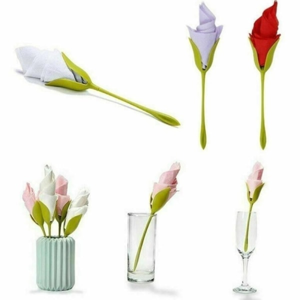 1/4/6 / 8st Servetthållare DIY Papper Rose Flower Branch Holder R
