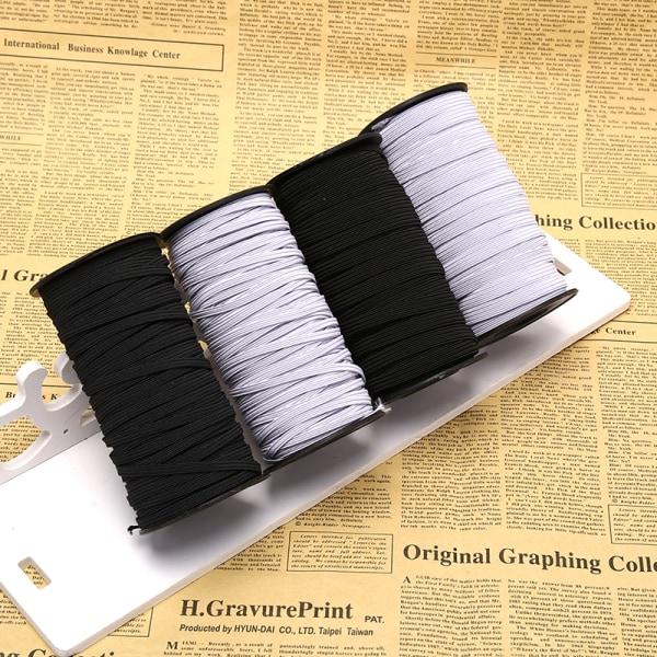 100 m / förpackning Flat elastiskt band 4/8 mm sladdtråd DIY sömnad
