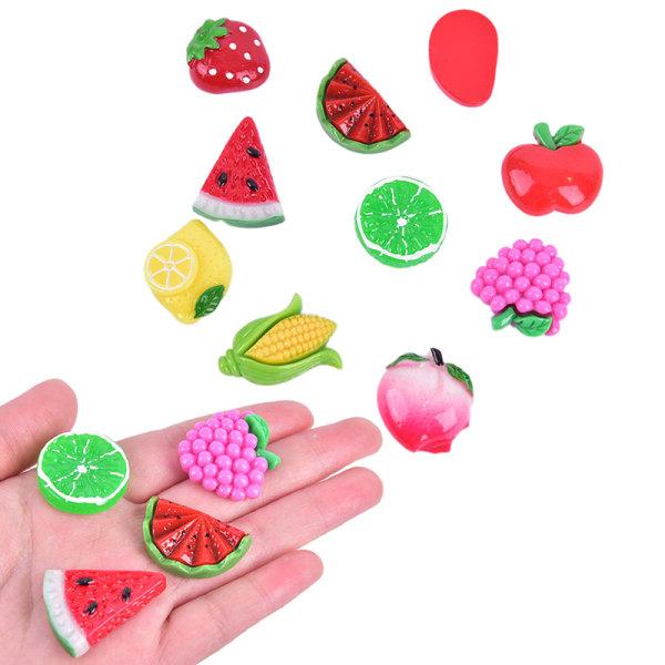 10st Frukter Kylskåp Souvenirharts Craft Kylskåp