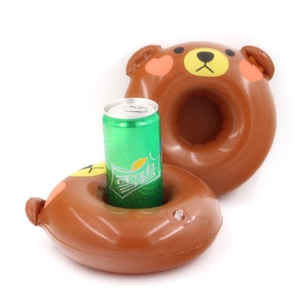10st uppblåsbara flytande dryck kan kopphållare badtunna simning