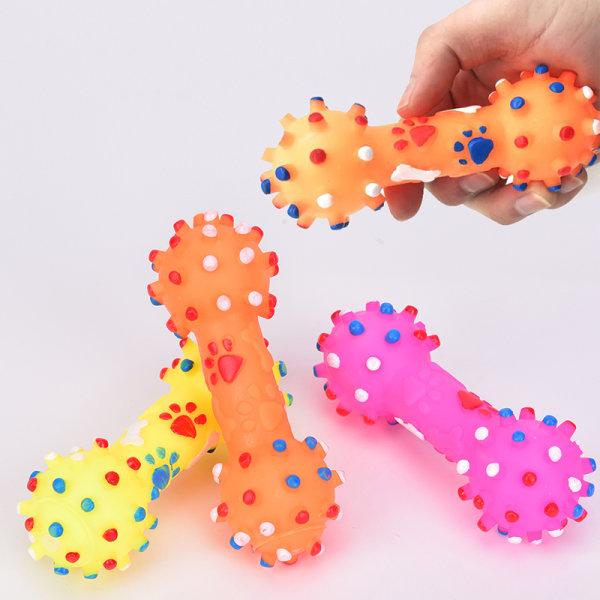 1PC Pet Dog Toy Chew Squeaky Gummileksaker för kattvalphundar Icke