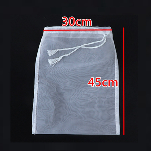2 st återanvändbar silpåse finmaskigt nylonfilterpåse netto ki 100Mesh 30cm*45cm