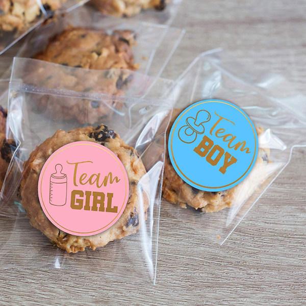 24st Team Boy Team Girl Stickers Pojke eller Girl Sticker för Gende