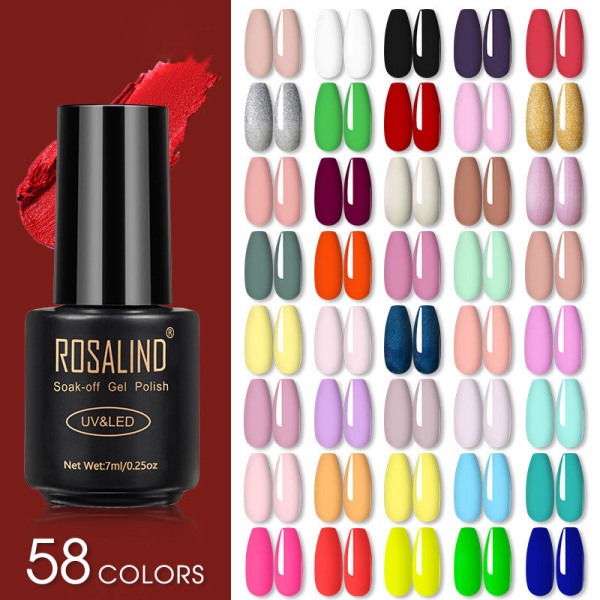 Nagellack Lackhybrid Röd Nail Art Semi Permanent Base Sof 35