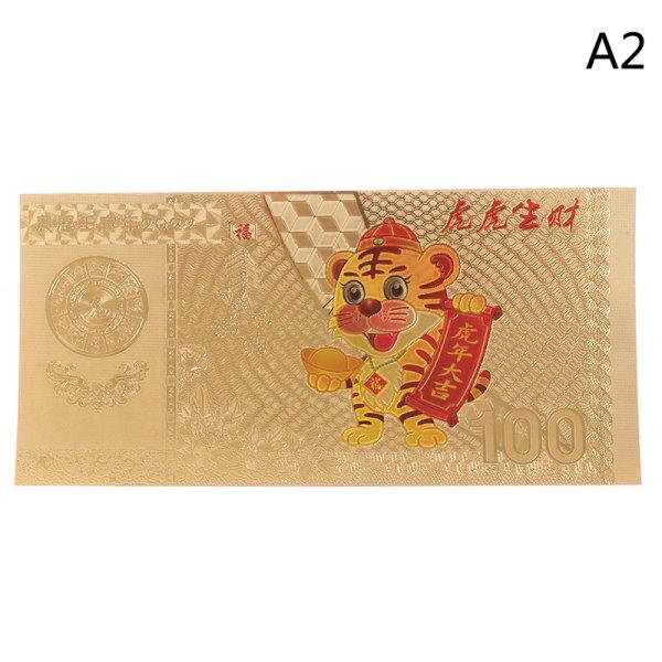 2022 Nyår av tigerminnesedeln Guld Silver B A2