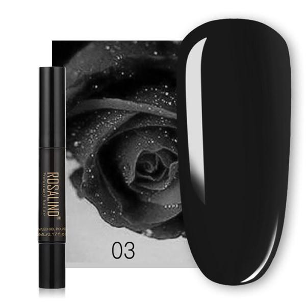 Nail Glitter Magical Mirror Pen Manicure Paljetter naglar behöver Gel 3