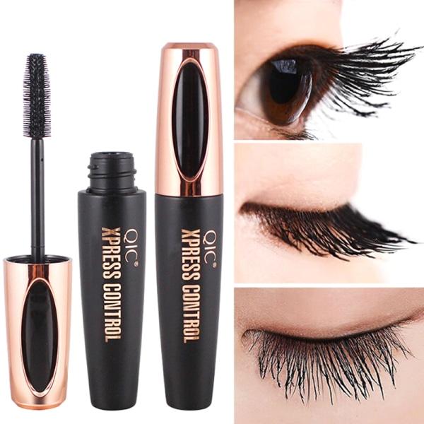 4D silkefiber ögonfransar mascara förlängning smink svart vattentät