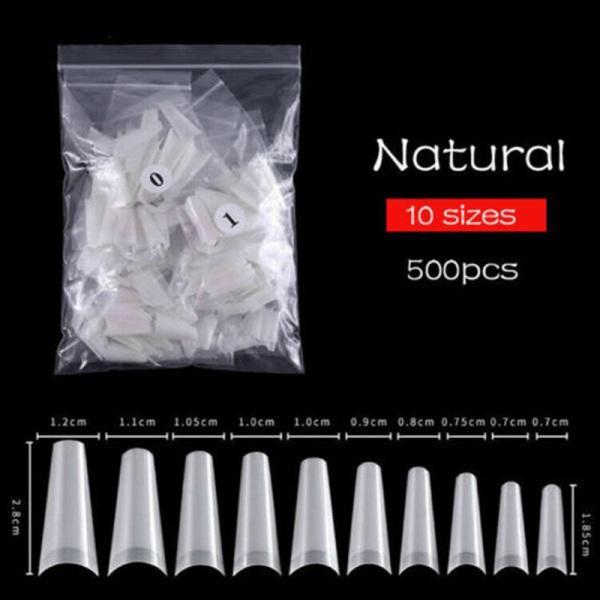 500 akrylgel nagel manikyr dekor C kurva falska naglar nagel Ar
