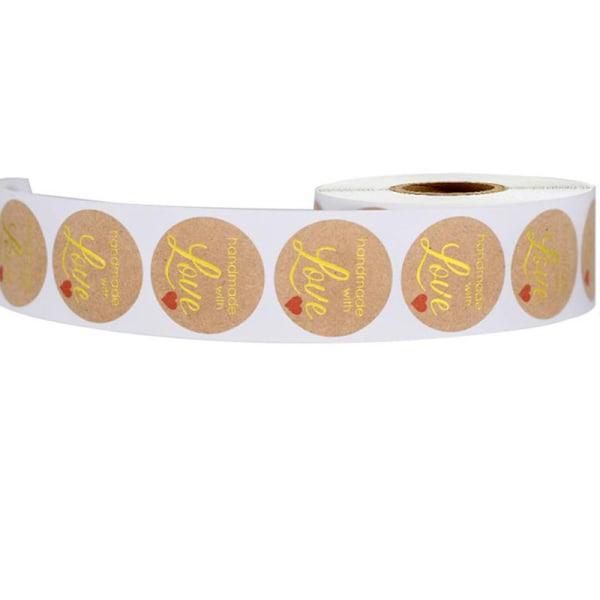 500 st Kraft Guld Handgjorda Klistermärken Scrapbooking Bakning Sticke
