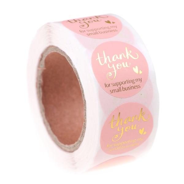 500 st rosa tack för att du stöder mitt småföretag 1 tum S