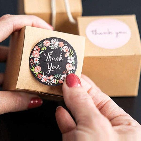 500st Blomma tack Runda självhäftande klistermärken DIY-paket Gif