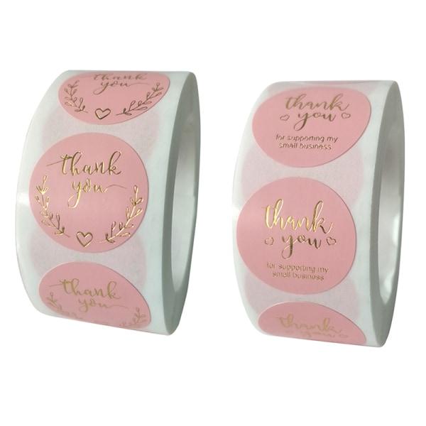 500st per rulle tack klistermärke tätningsetiketter rosa etikettpapper