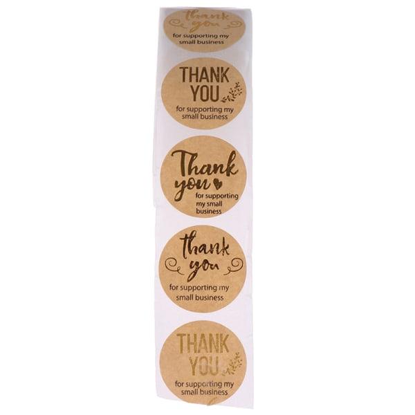 500st tack för att du stöder mitt företag Kraft Stickers Gold