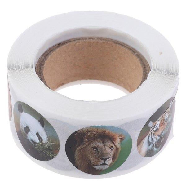 500st Zoo djur klistermärken Roll självhäftande dagbok Etikettpapper sti