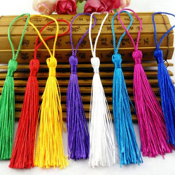 50st tofsborste hänge DIY örhängen smycken gör silke sati