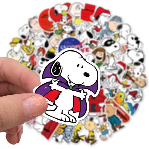 50st Cartoon Snoopy Stickers Laptop Skateboard Bagage Waterpr