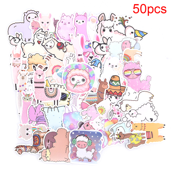 50ST Llama Alpaca Sticker Animal Stickers Laptop Bagage Skate