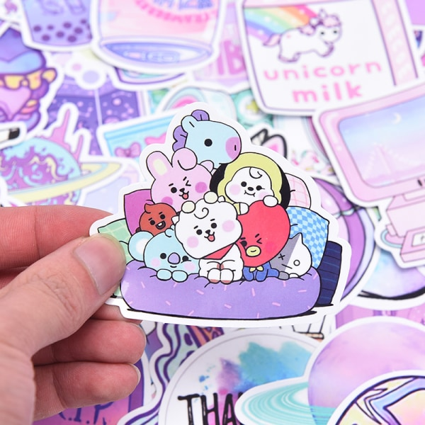 50st / pack Unicorn brevpapper klistermärken Doodling Travel DIY Lugg