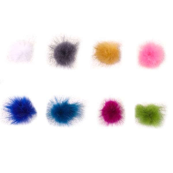 8 färger avtagbar hårig bollnagelkonstruktion med magnet 3D Ba 2