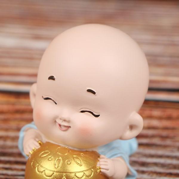 Miniatyrer och Little Monk Figurines DIY Fairy Garden Decor Car A A7