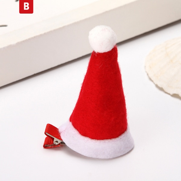 1 st julmössa flicka hårklipp snöflinga hårnålar för barn B