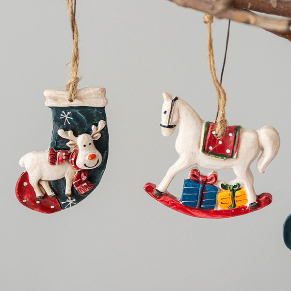 Häst Julstrumpor Älgträdsdekoration Hängande Orna A2