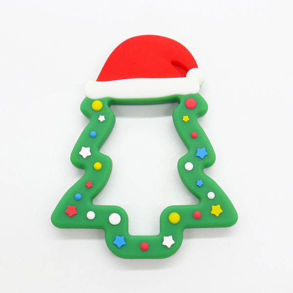 Nya spädbarn silikon julgran molarer är Molar Soothing So Green