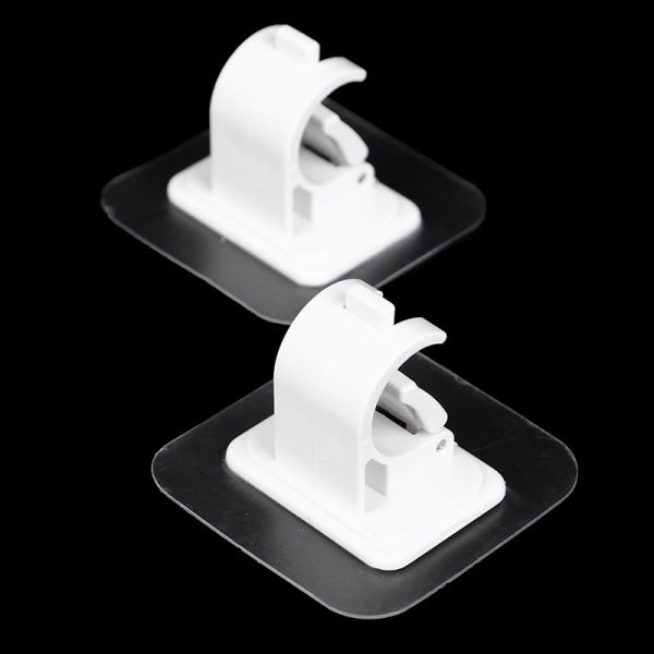 2 st nagelfri justerbar gardinhållare hållare limvägg C White