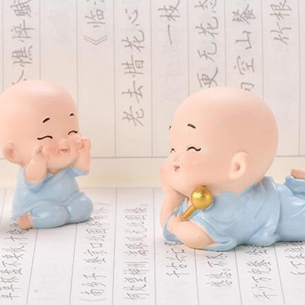 Little Monk Car Decorations Creative Interior Figurine Decorati C
