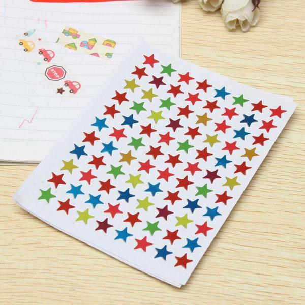 880st Stjärnformade klistermärken för skolbarnlärare R