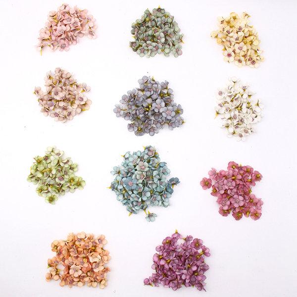 100st 2cm Flerfärgad Daisy Flower Head Mini Silk Artificiell Fl Color mixing